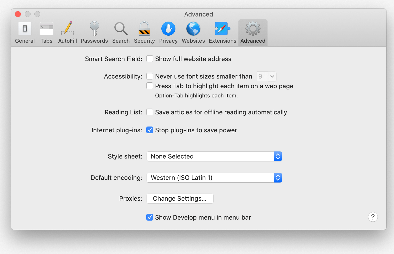 Enable developer tools on a MAC